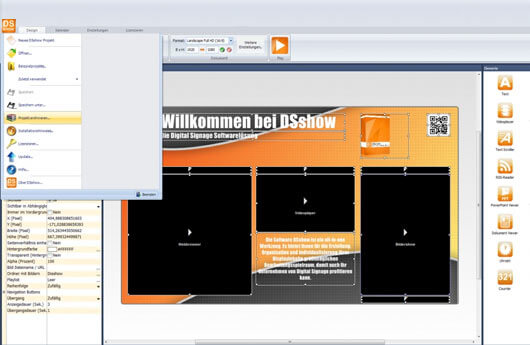 DSSHOW - Digital Signage Software - Archivierung von Projekten