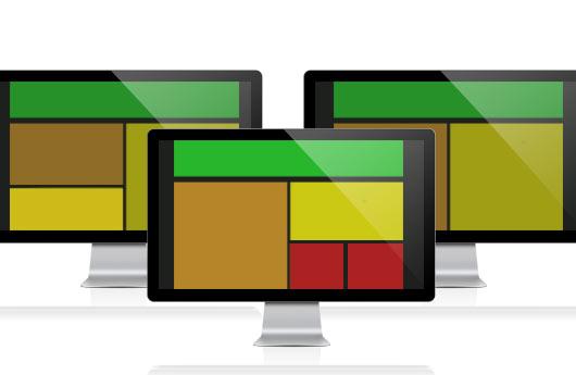 DSSHOW - Digital Signage Software - Freie Aufteilung
