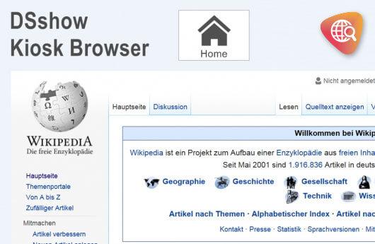 DSSHOW - Digital Signage Software - Kiosk Browser