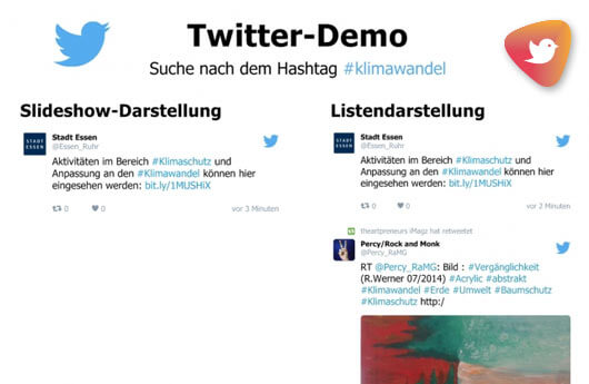 DSSHOW - Digital Signage Software - Twitter