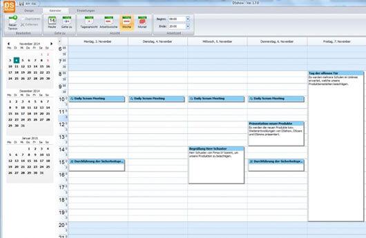 DSSHOW - Digital Signage Software - Zeitsteuerung